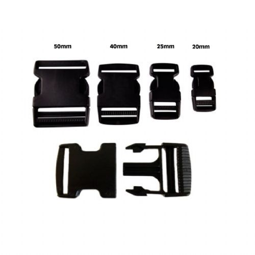 Delrin Side Release Bag Buckle/Clip - (sizes 20 - 50mm )